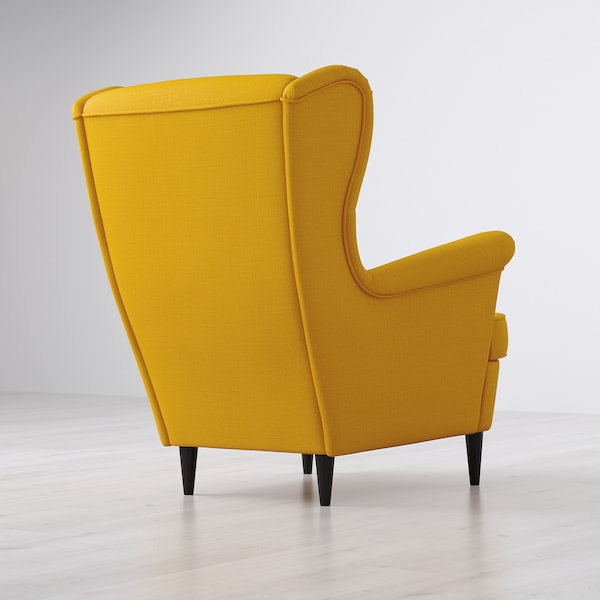 STRANDMON Armchair - Skiftebo yellow - IKEA