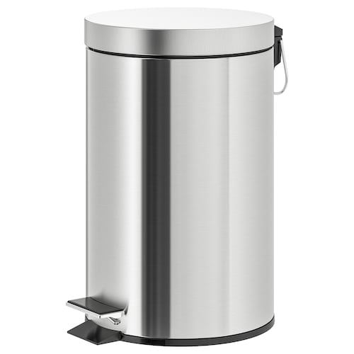 """STRAPATS pedal bin stainless steel 16 ¼ """" 9 ¾ """" 3 gallon"""