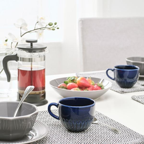 STRIMMIG Mug, stoneware blue, 12 oz