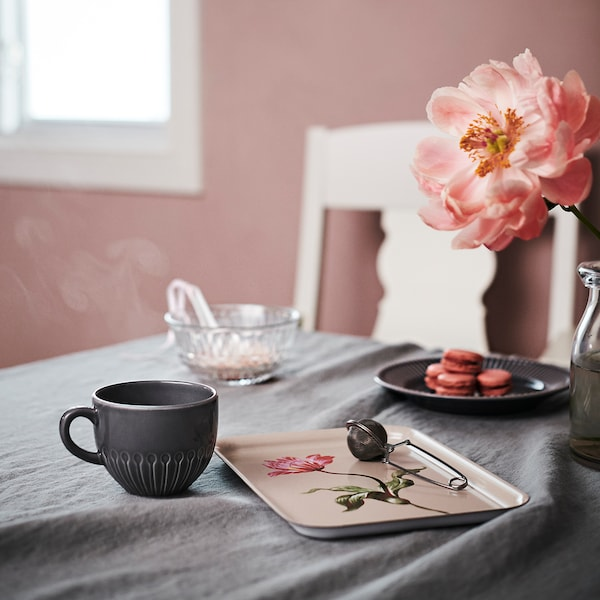 STRIMMIG Mug, stoneware gray, 12 oz