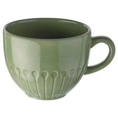 STRIMMIG Mug, stoneware/green, 12 oz