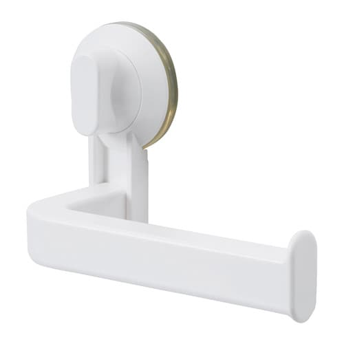 STUGVIK Toilet roll holder with suction cup   The suction cup grips smooth surfaces.
