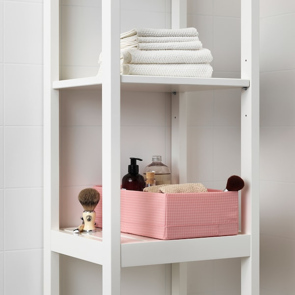 """STUK box with compartments pink 7 ¾ """" 13 ½ """" 4 """""""
