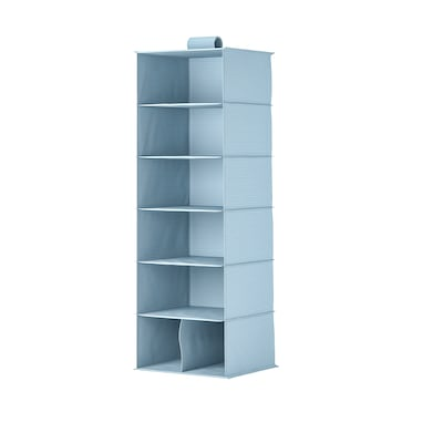 """STUK Storage with 7 compartments, blue-gray, 11 ¾x11 ¾x35 ½ """""""