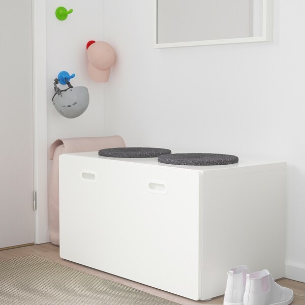 "STUVA / FRITIDS Bench with toy storage, white/white, 35 3/8x19 5/8x19 5/8 """