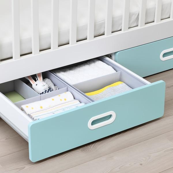 "STUVA / FRITIDS crib with drawers light blue 54 3/4 "" 29 1/8 "" 36 1/4 "" 27 1/2 "" 52 "" 50 lb"