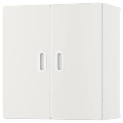 "STUVA / FRITIDS Wall cabinet, white/white, 23 ½x11 ¾x25 ¼ """