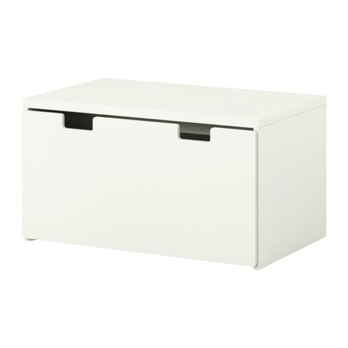 STUVA Storage bench   Low storage makes it easier for children to reach and organize their things.