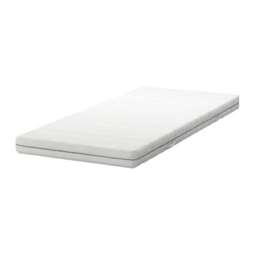 SULTAN FÅVANG High-resilience foam mattress   5 comfort zones relieve pressure on your shoulders and hips.