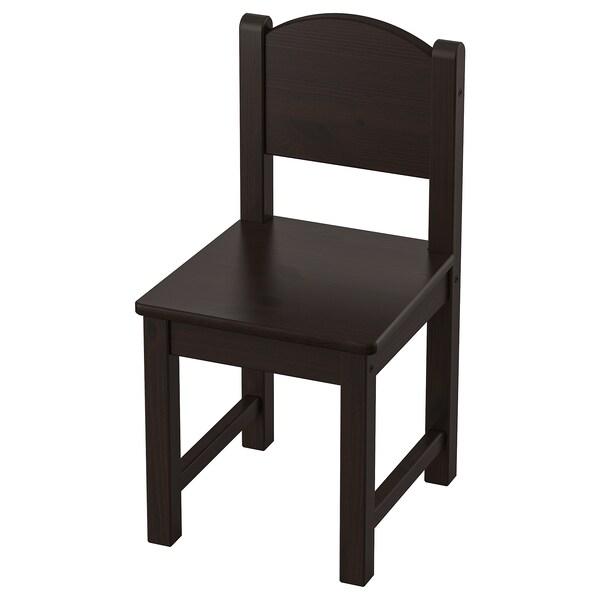 SUNDVIK Children's chair, black-brown