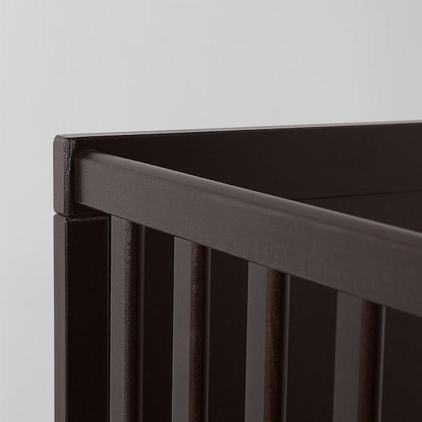 """SUNDVIK Crib, black-brown, 27 1/2x52 """""""