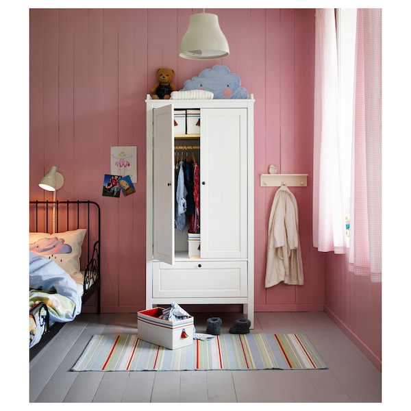 """SUNDVIK Wardrobe, white, 31 1/2x19 5/8x67 3/8 """""""