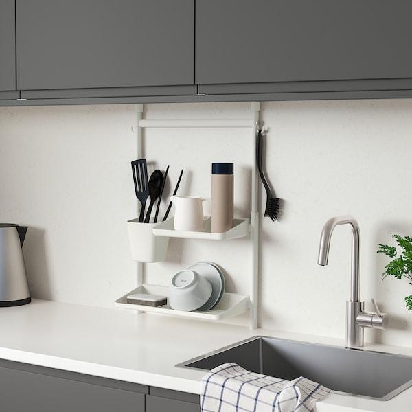 SUNNERSTA Kitchen organizer set, no drill/shelf/dish drainer/container