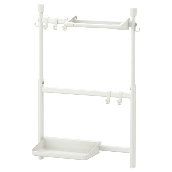 SUNNERSTA Kitchen organizer set, no drill/shlf/kit roll hldr/hook