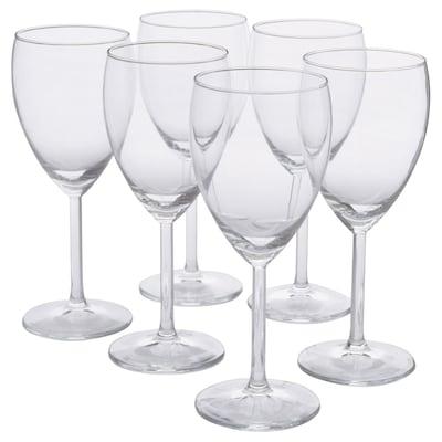 SVALKA White wine glass, clear glass, 8 oz