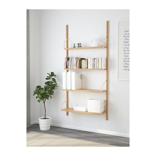 SVALNÄS Wall-mounted shelf combination   With a spacious storage solution everything has its place; makes it easy to find your things.