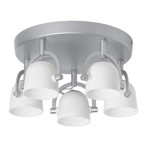 SVIRVEL Ceiling light with 5 spotlights IKEA