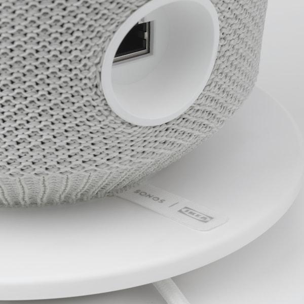 SYMFONISK Table lamp with WiFi speaker, white
