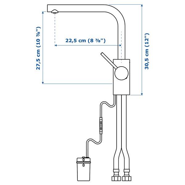 """TÄMNAREN kitchen faucet w sensor stainless steel color 12 ¼ """""""