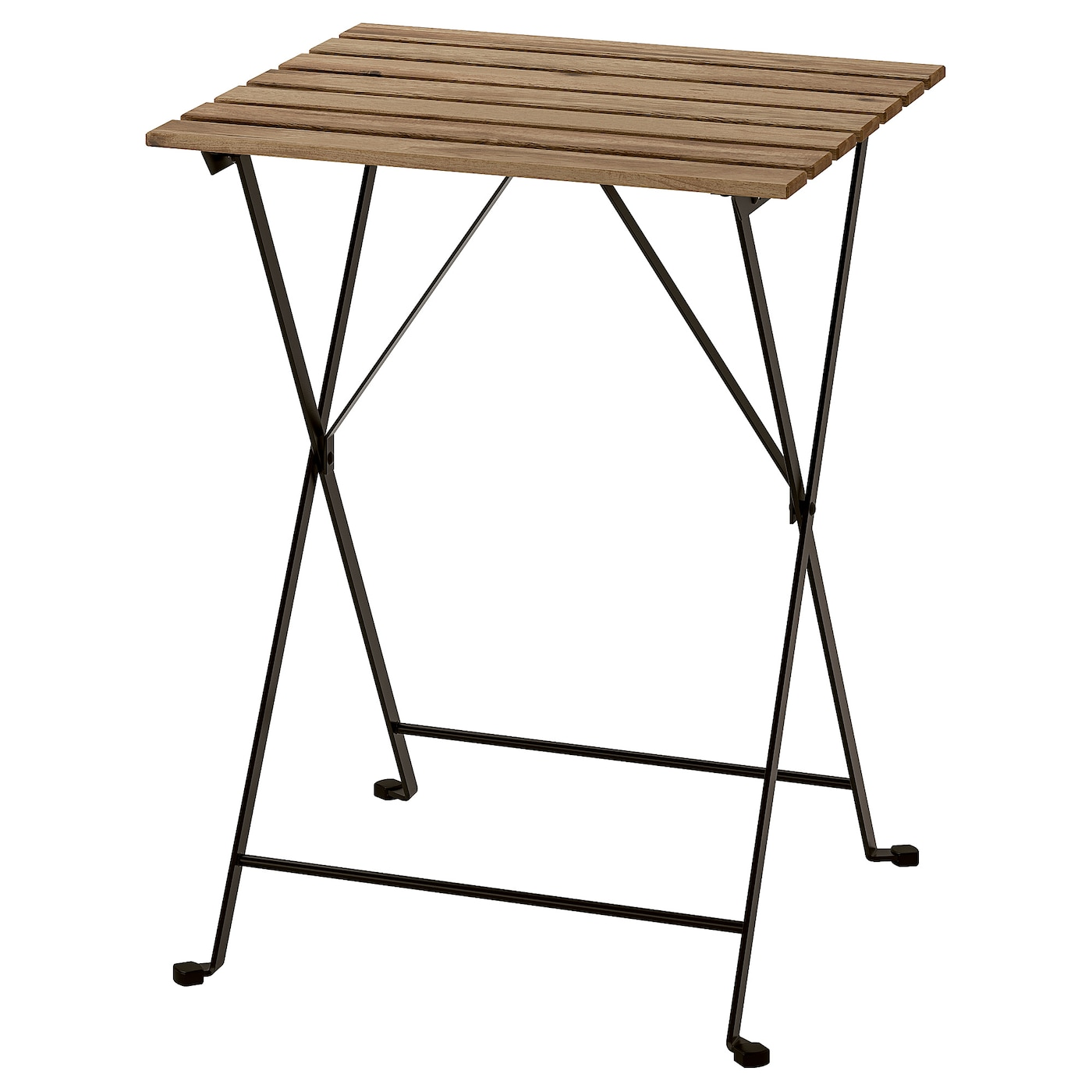 "TÄRNÖ Table, outdoor - black/light brown stained 8 8/8x8 8/8 "" (88x88 cm)"