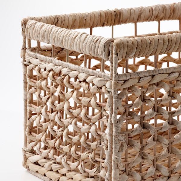 """TÄTING Basket, banana leaves/natural, 13 ¾x9 ¾x9 ¾ """""""