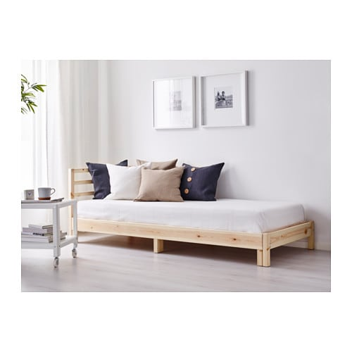 TARVA Daybed frame   The backrest mounts on the right or the left side of the daybed.