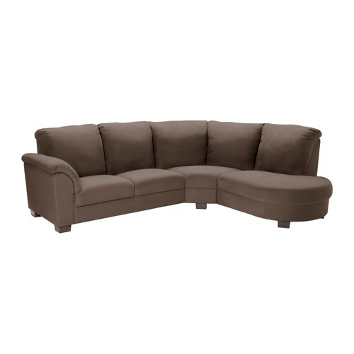 TIDAFORS Corner sofa with arm left   High back provides soft and comfortable support for the neck and head.
