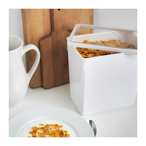 TILLSLUTA Dry food jar with lid   Helps you organize dry foods in your cabinets and drawers.