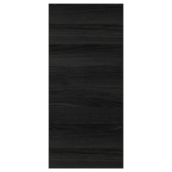 """TINGSRYD Cover panel, wood effect black, 15x32 1/2 """""""