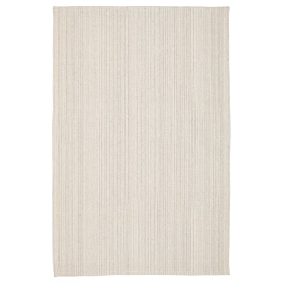 "TIPHEDE Rug, flatwoven, natural/off-white, 3 ' 11 ""x5 ' 11 """