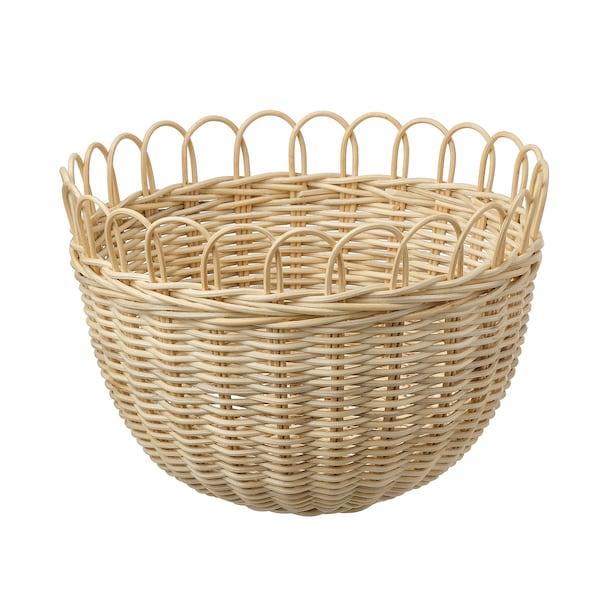 """TJILLEVIPS basket rattan 9 ¾ """" 13 ¾ """""""