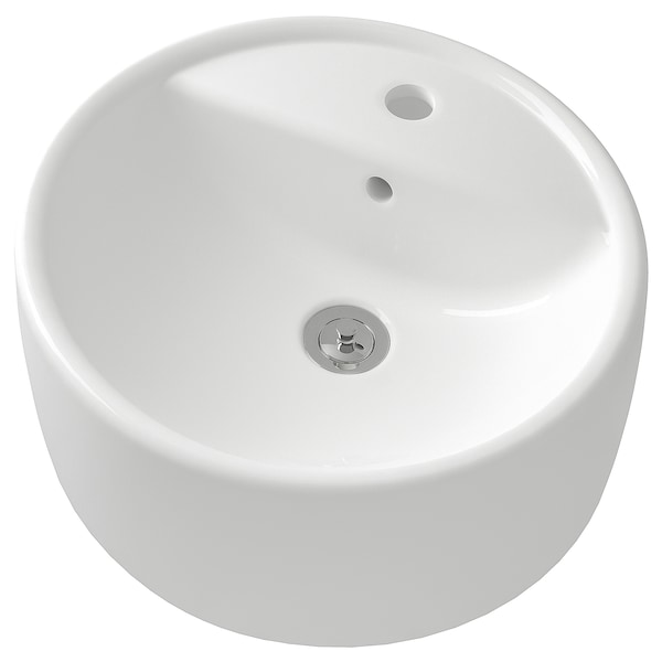 "TÖRNVIKEN countertop sink white 5 1/2 "" 17 3/4 """