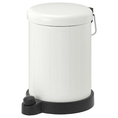TOFTAN Trash can, white, 1 gallon