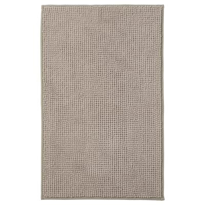 "TOFTBO Bath mat, dark beige, 20x32 """