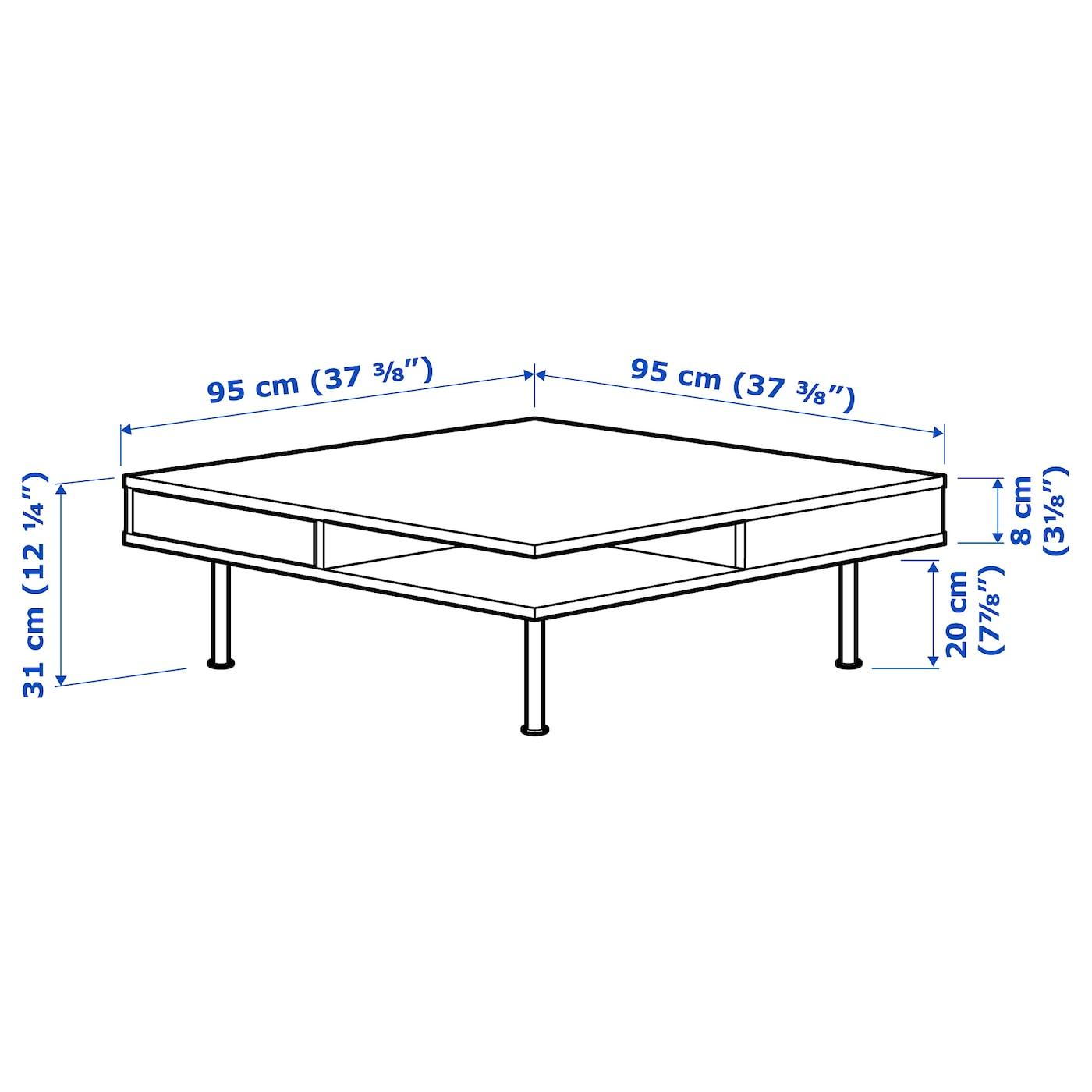 Tofteryd Coffee Table High Gloss White 373 8x373 8 95x95 Cm Ikea [ 1400 x 1400 Pixel ]