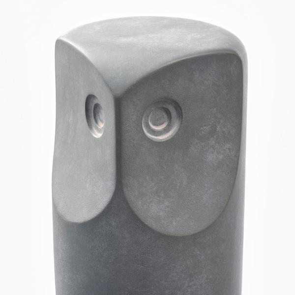 TONAD Decoration, set of 3, owl/gray