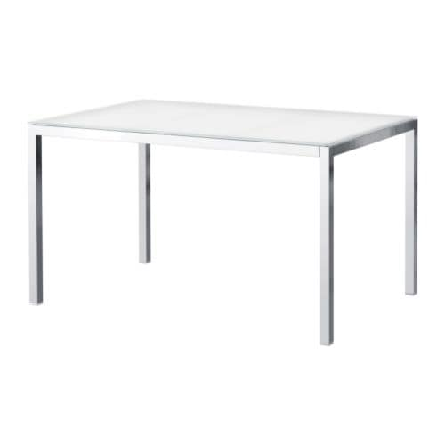 Ikea Tisch Weiß Glas ~ TORSBY Table The table top made of tempered glass is easy to clean and