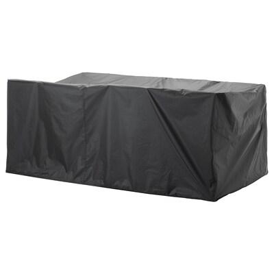 "TOSTERÖ Cover for outdoor furniture, dining set/black, 102 3/8x58 1/4 """