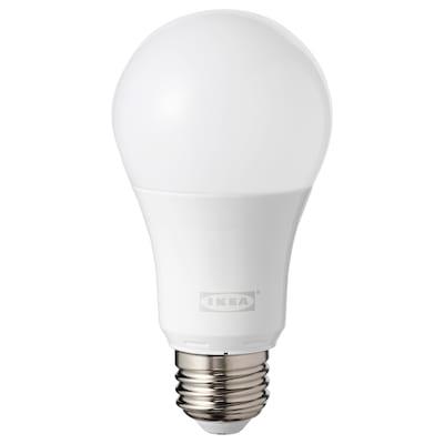 TRÅDFRI LED bulb E26 600 lumen, wireless dimmable color and white spectrum/globe opal white