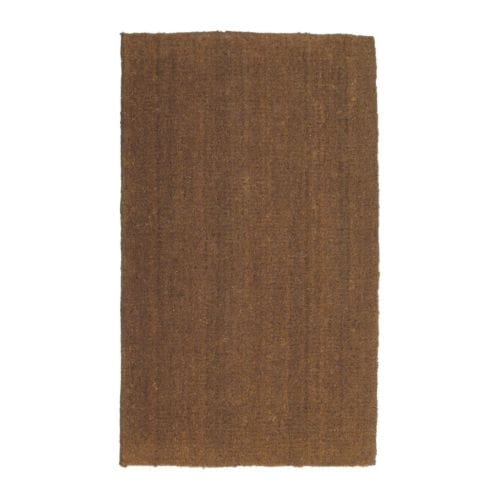 TRAMPA Door mat   Easy to keep clean - just vacuum or shake the rug.  Latex backing keeps the mat firmly in place.
