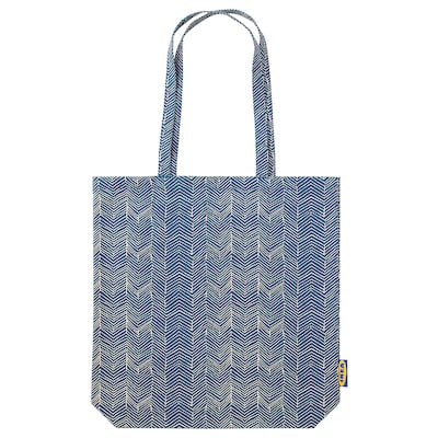 "TREBLAD bag blue/beige 15 ¾ "" 15 ¾ """