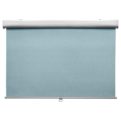 TRETUR Blackout roller blind, light blue, 30x76 ¾ ""