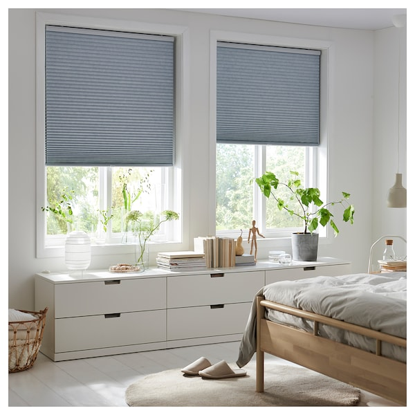 TRIPPEVALS Black-out cellular blind, light gray, 34x76 ¾ ""