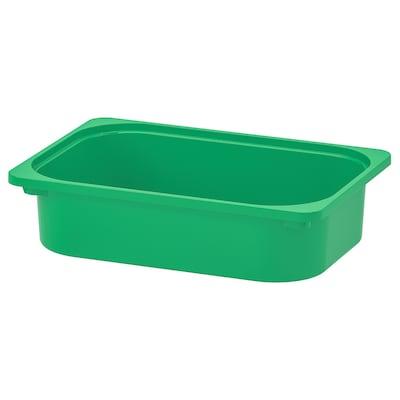 "TROFAST Storage box, green, 16 ½x11 ¾x4 """