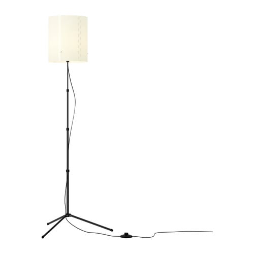 TROGSTA Floor lamp   Height adjustable; adjust according to need.  Gives a soft mood light.