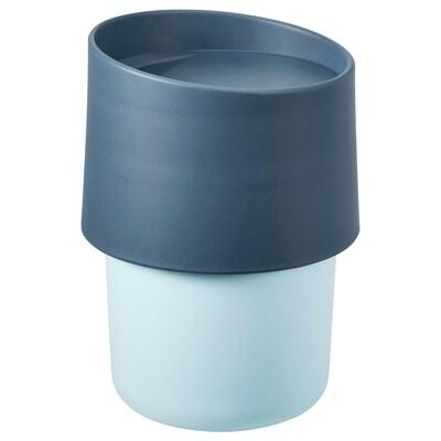 TROLIGTVIS Travel mug, blue, 10 oz