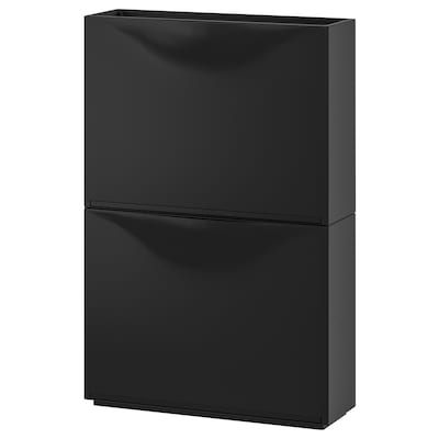 TRONES Shoe/storage cabinet, black, 20 1/2x15 3/8 ""