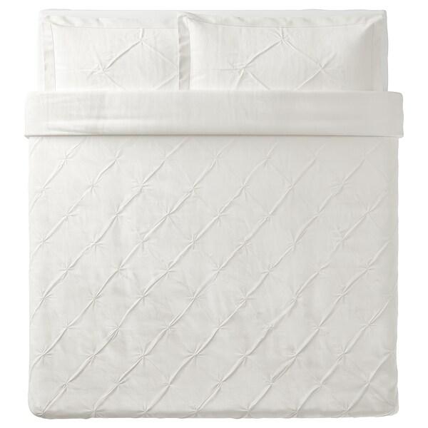 TRUBBTÅG Duvet cover and pillowcase(s), white, King