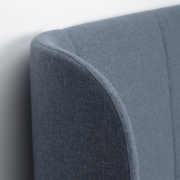 TUFJORD Upholstered bed frame, Gunnared blue, King