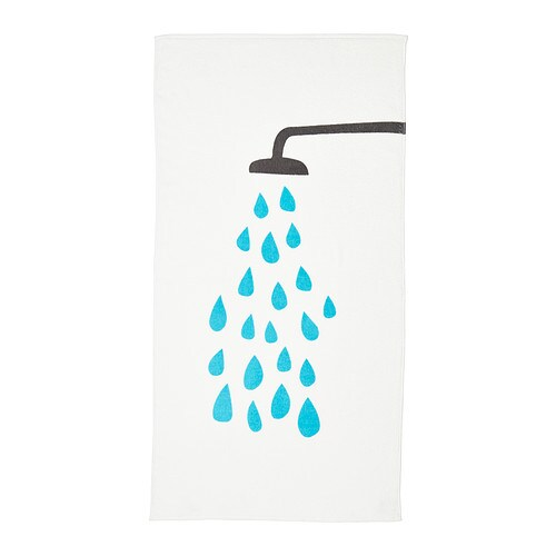 tvingen bath towel white blue 70x140 cm ikea. Black Bedroom Furniture Sets. Home Design Ideas